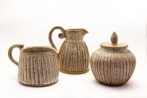 Speckled-white-stoneware-crearmer-pitcher-and-sugar-s